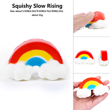 Soft PU Slow Rising Anti-stress Kawaii christmas halloween small Squishy Rainbow Bridge Squeeze  toys china for children gadget
