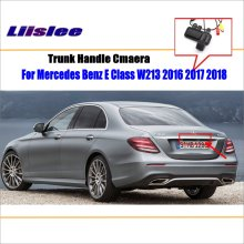 Liislee Car Rearview Reverse Parking Camera For Mercedes Benz E Class W213 2016 2017 2018 Trunk Handle / HD CCD Rear View Camera for mercedes benz glk class x204 2013 2015 trunk handle car reverse camera rear view backup parking camera hd ccd night vision