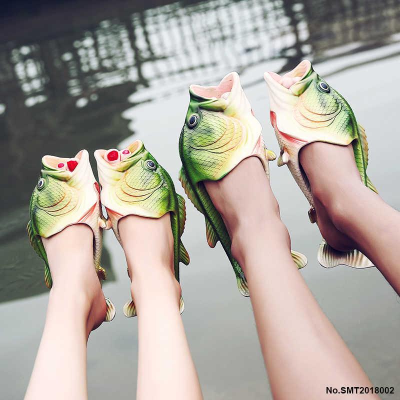 f405381c0 Weweya New Summer Shoes Men Sandals Fish Slippers Flip Flops Sandals Beach  Personality Strange Halloween Creative