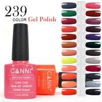 #30917 CANNI Nail Art Manicure Nail Gel Polish High Quality 239 Color UV Nail Varnish Bling Gel