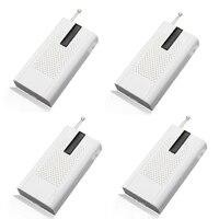 4 stks Draadloze Trillingen Breuk Deur Sensor voor Home Alarm Window Breaking Alarm 433 MHz voor alarmsysteem