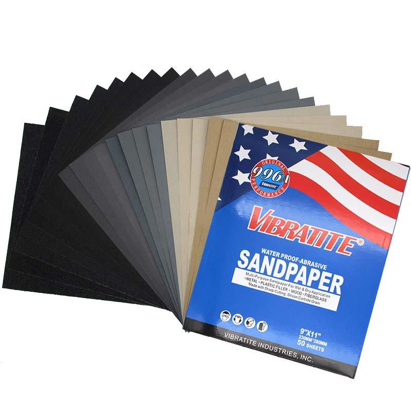 Pack Of 10 Sanding Sheets Sandpaper 500 Grit Wet And Dry Paper