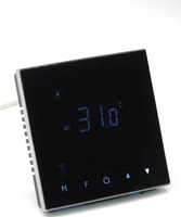 Acrylic Material Touch Button Remote Control Double Sensor Thermostat With Heating Element