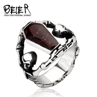 Cool Undertaker Skull Ring Stainless Steel Exclusive Sale Jewelry For Man And Boy Free Shipping BR8