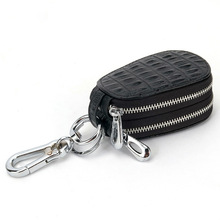Crocodile Genuine Leather Key Wallets Double Zipper Car Key Bag Business Case Housekeeper Automobile Remote Controller Package