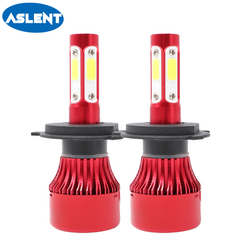 Aslent H4 H7 H11 H13 9005 9006 COB Chips LED Car Headlight Bulb Hi-Lo Beam 100W 12000lm 6500K Auto Led Headlamp Fog Light 12V p8 philips chips 40w 4000lm led car headlight h13