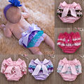Toddler Baby Infant Girl Underwear Lace Ruffle Bloomer Nappy Cute Bow Underwear Panty Diaper Cover Bottoms