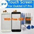 Oukitel U7 Tela Sensível Ao Toque Pro 100% Novo Peças de Reparo Tela Do Painel de Toque Para Oukitel u7 Pro Telefone Inteligente