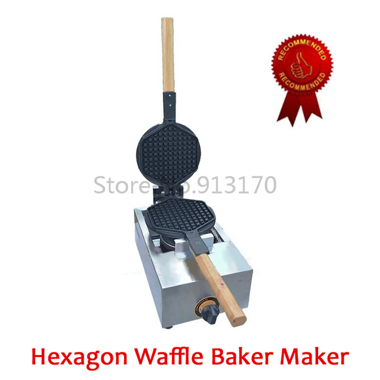 Free Shipping_Gas Waffle Maker Waffle Snack Baker Kitchen Appliance Device Non-stick Pan Stainless Steel Body