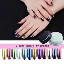2g holographic nail powder color shimmer and shine rose gold glitter mirror nails art metallic neon aurora pigment box