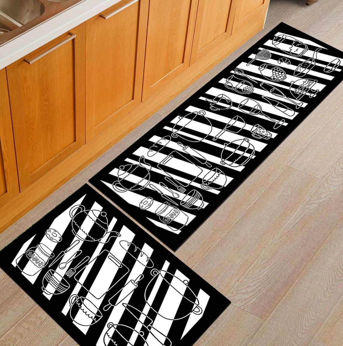 Zeegle Doormats For Entrance Door Flannel Hallway Mats Non-slip Kids Bedroom Carpet Bedside Mats Soft Bathroom Mats Kitchen Rugs