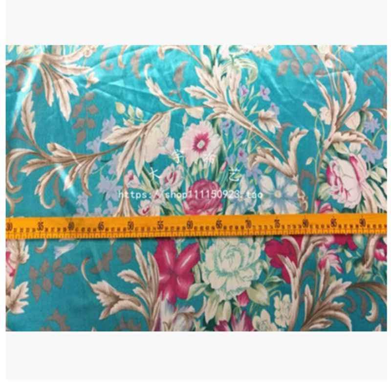 Винтаж дешевая из атласной ткани атласная ткань с принтом с рисунком из атласной ткани для пошива женское платье M86