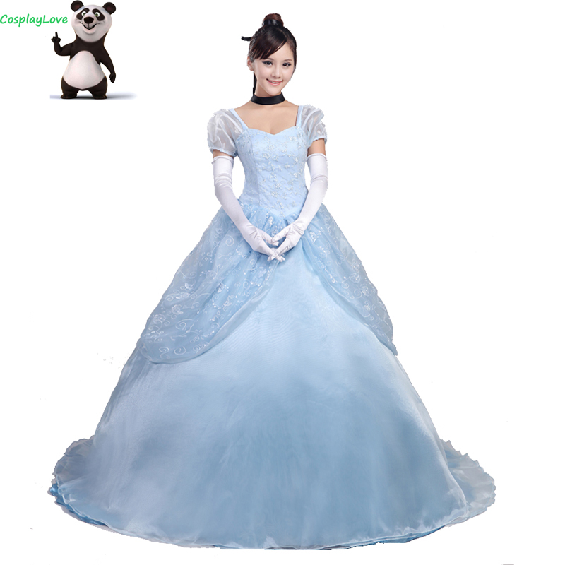 CosplayLove Custom Made Cinderella Princess Dress Cosplay Costume For Halloween Christmas Party