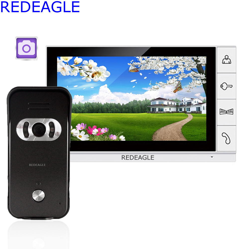 9 inch LCD Wired Video Door Phone Record Intercom Home Security System IR Camera Support SD Card Recording Take Photo Up To 32GB