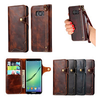 ELAIDE Luxury Real Genuine Leather Case For Samsung Galaxy S8 Case Vintage Wallet For Samsung Galaxy