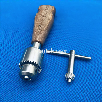 High Quality Wooden Handle Orthopedic Bone Hand Drill Veterinary Orthopedic Instrument Tools