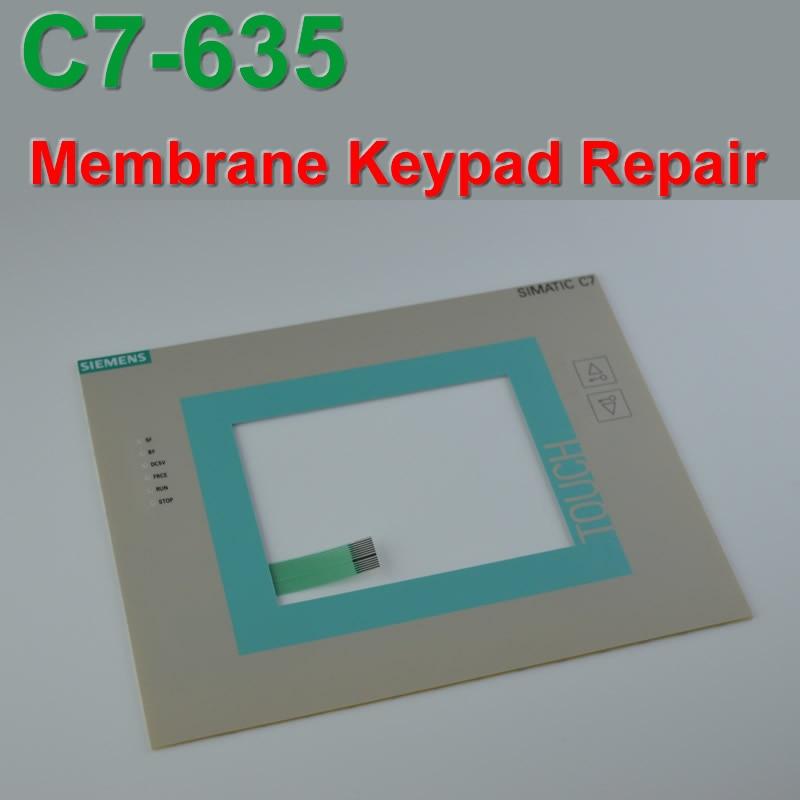 Neue C7-635 6ES7635-2EB02-0AE3 6ES7 635-2EB02-0AE3 Schutz film/Touchpad panel reparatur, simatic HMI tastatur, IN LAGER