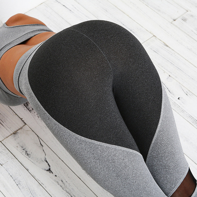 cf58cf970761a New Hips Push Up Heart Booty Sexy Yoga Leggings Fitness Elastic Splice Mesh  Yoga Pants Running Tights Gym Sports Leggings