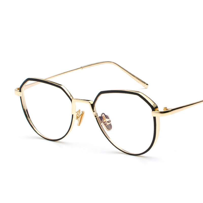 Classic Vintage 2018 Small Square Frame glasses 4SB001-006 Vintage Round Eyeglass Frame Cat Eye Style Clear Lens Glasses