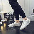 New 2017 Men Casual Shoes Spring Autumn Platform Fashion Men's Shoes Outdoor Walking Flats White Shoes Free Shipping