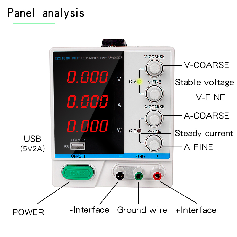 Longwei 3KG Labor Schaltnetzteil Labor DC 30v 10a 60V 120V 2A 3A 5A Bank quelle Digital Einstellbar Schalter Power220 V