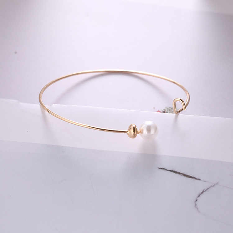 New Wild Temperament Simple Fashion Personality Pearl Opening Adjustable Bracelet Women And Women Birthday Gift Jewelry Bracelet