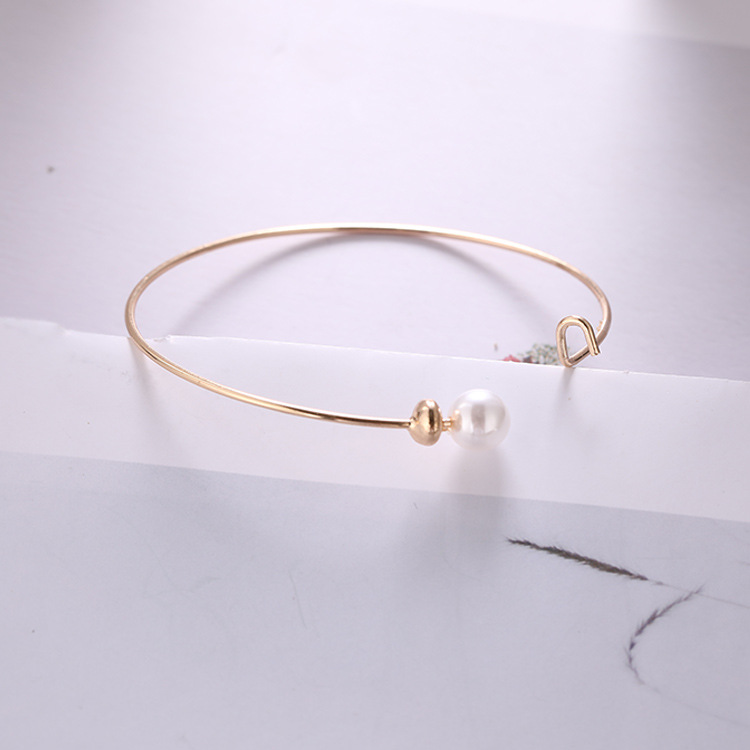 New Wild Temperament Simple Fashion Personality Pearl Opening Adjustable Bracelet Women And Women Birthday Gift Jewelry Bracelet gold earrings for women