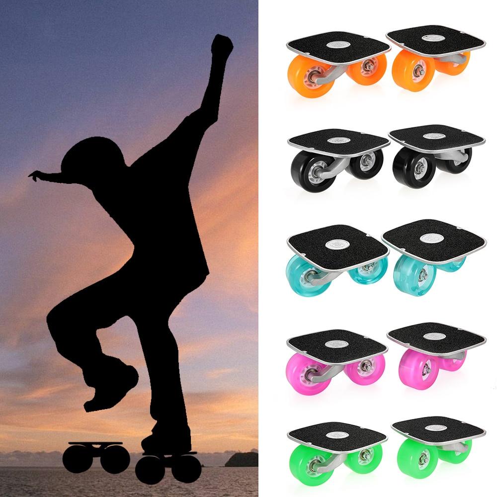 Prix pour Portable Driftboard Dérive de Planche À Roulettes Pour Freeline Rouleau Route Patins Anti-patinage Skate board En Aluminium Pédale et PU Roues