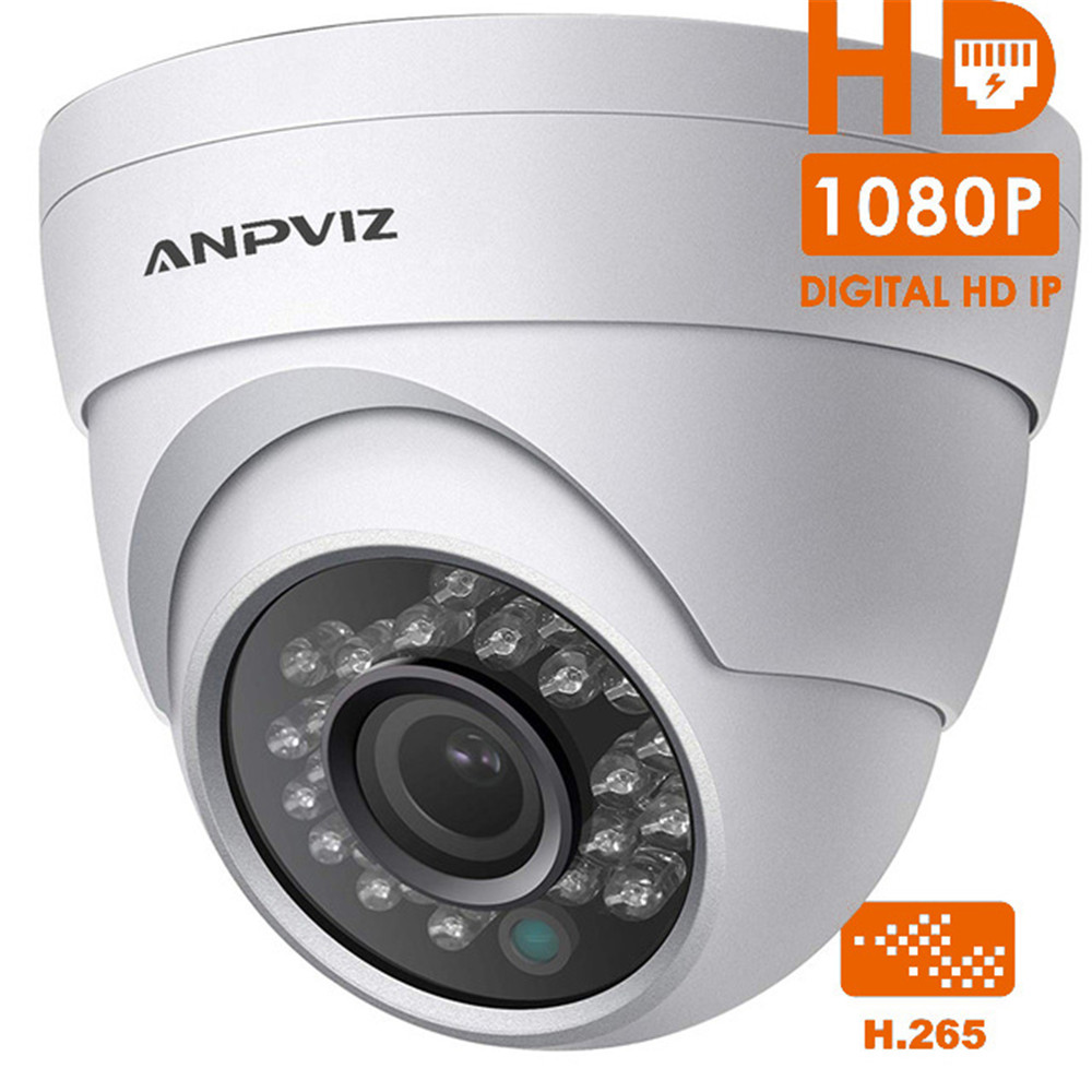 New Designed 1080P HD Dome IP Camera PoE H 265 2MP Night Vision Security Video Surveillance