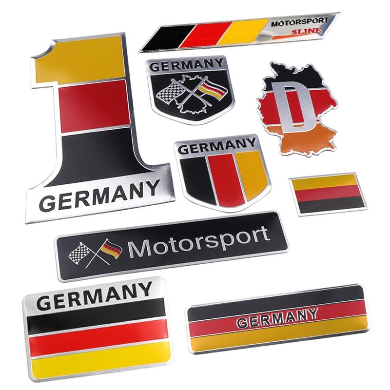 Автомобильный Стайлинг 3D Флаг Германии эмблема Deutsch наклейка на автомобиль решетка Бампер Окно корпус наклейка на мотоцикл украшение