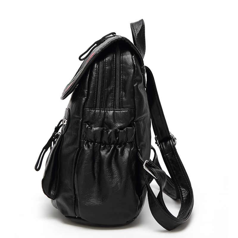 LYKANEFU мягкий женский рюкзак из искусственной кожи рюкзаки для девочек-подростков Модные женские рюкзаки женская школьная сумка Mochila