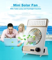 3 In1 Creative Solar Fan With Energy Lamp Flashlight Function Rechargeable Electric Fan Emergency Light Lamp