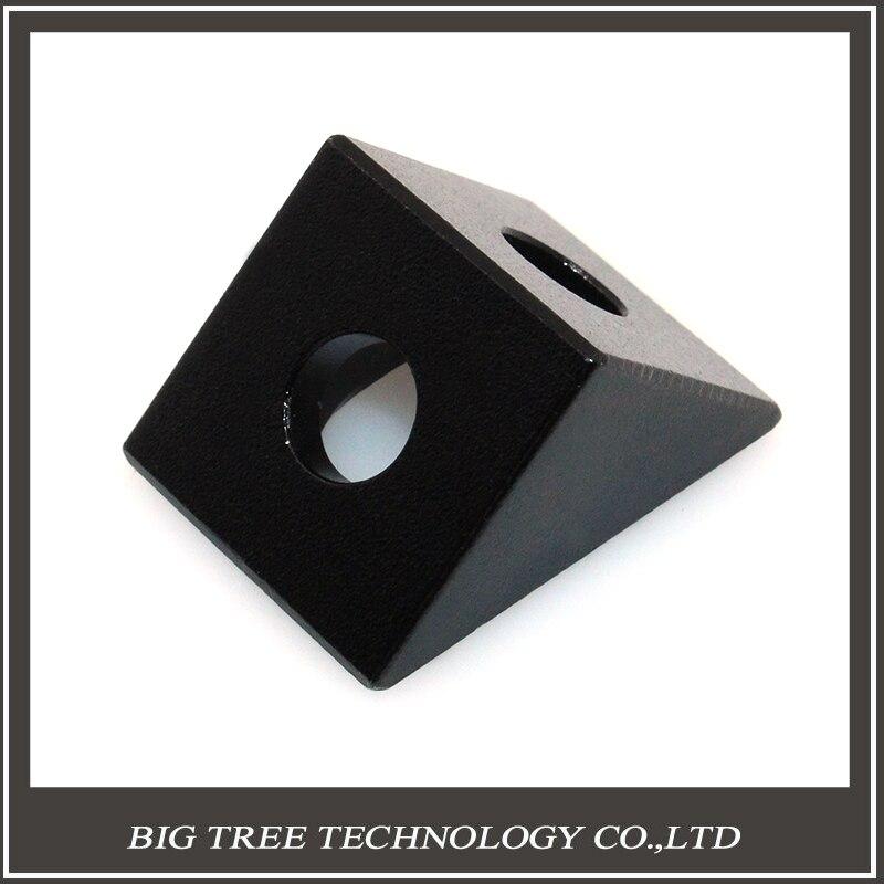 50 UNIDS Openbuilds Negro Ángulo de Esquina Conector Bloque de Aluminio para Imp