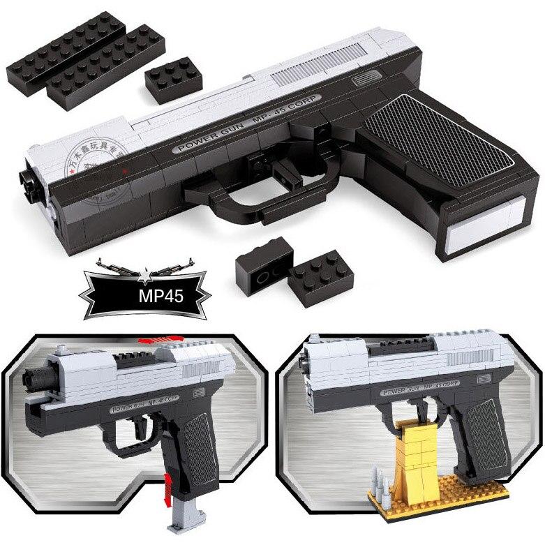 268 шт. DIY nerfs Elite пистолет MP45 пистолет игрушечный пистолет модели Building Block Набор Пластик Игрушечные лошадки комплект подарок для детей