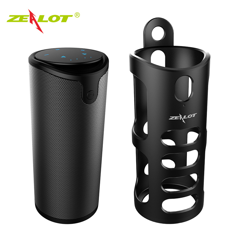 ZEALOT Official S8 Portable Speaker Tough Control Bluetooth Speakers HiFi 3D Stereo Wireless Subwoofer Support TF Card AUX new zealot s6 waterproof portable wireless bluetooth speakers power bank built in 5200mah battery dual drivers subwoofer aux