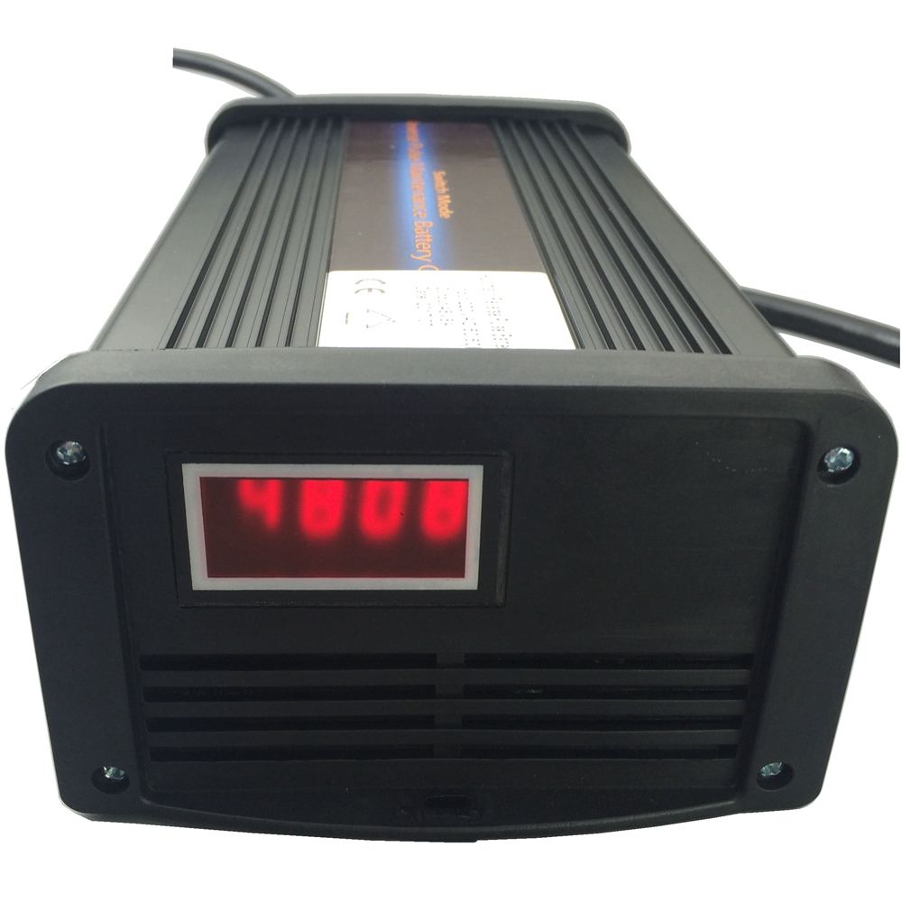 Warranty 2 Years 48V 8A Vehicle <font><b>Battery</b></font> Charger Maintainer Desulfator for 40-100AH AGM GEL <font><b>Batteries</b></font> Customize Plugs