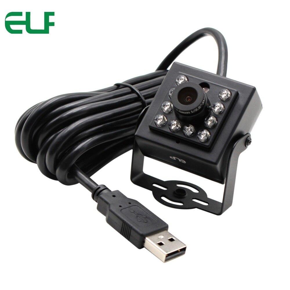 ELP 1080 P CMOS OV2710 UVC Android Linux IR Mini USB Camera Nachtzicht met 8mm lens en 850nm IR pass filter-in Beveiligingscamera´s van Veiligheid en bescherming op AliExpress - 11.11_Dubbel 11Vrijgezellendag 1