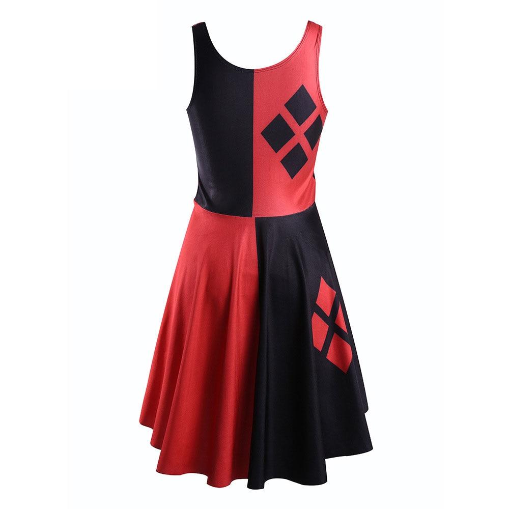 Kleid rot und schwarz