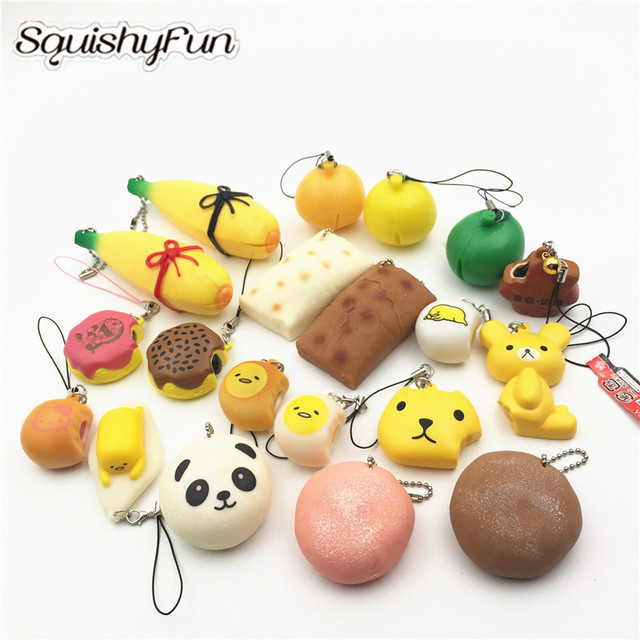 20Pcs/Lot Wholesale Squishies Slow Rising Toys Mixed