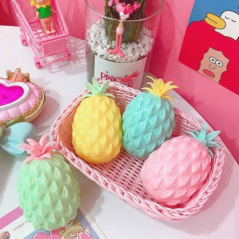 1 Pcs Nette Ananas Squishy Super Squeeze Spielzeug Langsam Rising Spielzeug Lustige Anti-stress-gadgets Für Kinder Kinder Stressabbau Spielzeug Ruf Zuerst
