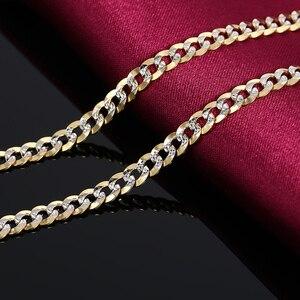 Image 3 - Collar de oro puro de 18K para hombre, cadena de oro sólido auténtico AU 750, joyería fina de fiesta clásica de lujo Simple, novedad de 2020