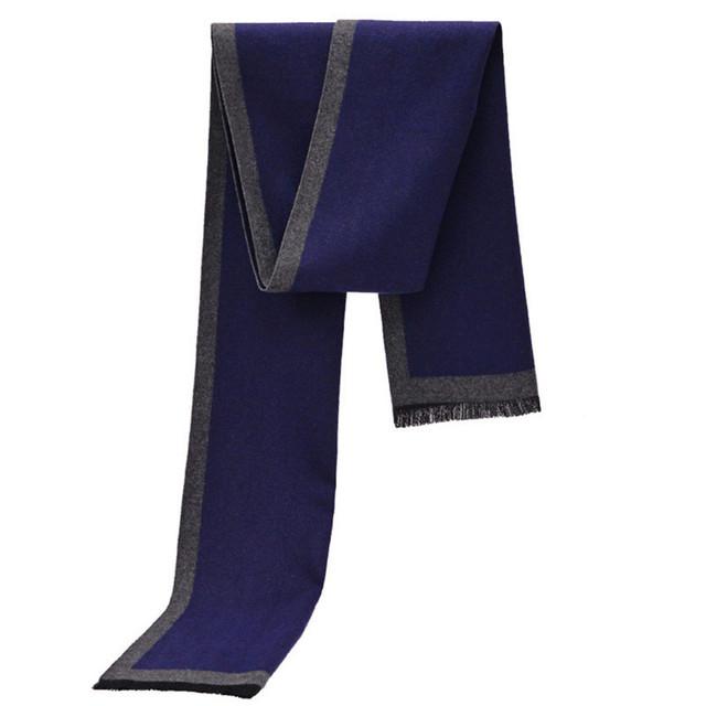 [Oda A la Alegría] diseño clásico de invierno Cálido Hombres Bufandas de Cachemira Bufandas bufanda larga sólido Regalos Para Los Hombres de Negocios Casual Hombres LAYA012