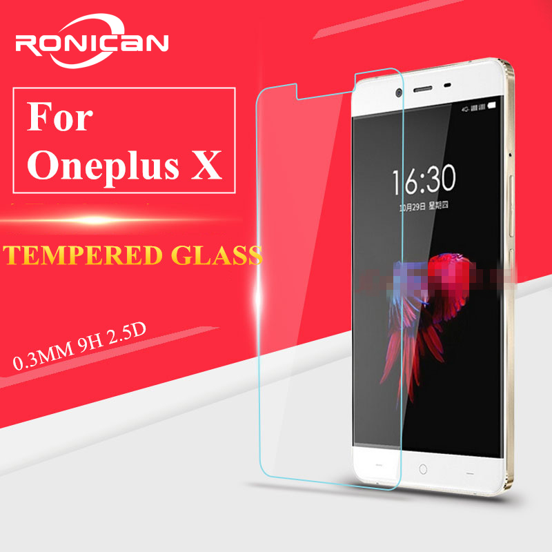 Glass Oneplus X Tempered Glass for Oneplus X Screen Protector for Oneplus X Glass One Plus X HD Protective Thin Film RONICAN