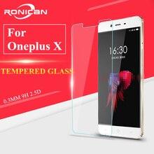แก้วOneplus XกระจกนิรภัยสำหรับOneplus Xป้องกันหน้าจอสำหรับOneplus XกระจกนิรภัยOne Plus X HDป้องกันบางฟิล์มRONICAN