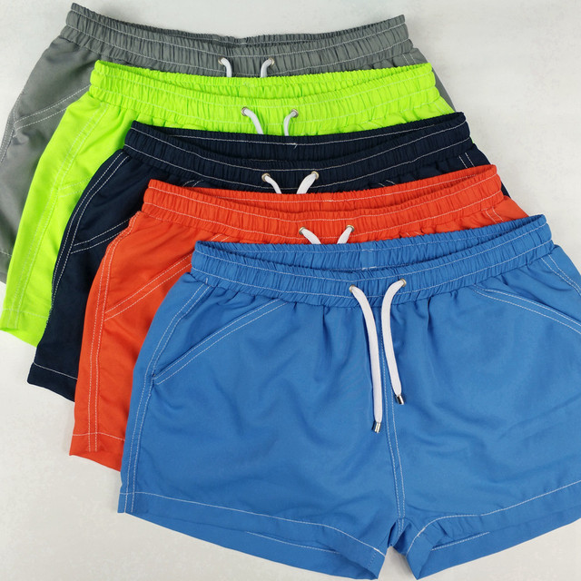 TQQT Swimwear Beach Men Active Boardshorts Simple Design Outwear Solid Men'S Shorts Thin Shorts Elastic Waist Board Short 7P0120