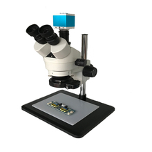Phone repair tools 16MP HDMI USB Digital Video microscope camera +7X 45X Trinocular stereo microscope 144 adjustable LED lights 16mp hdmi 3 5x 7x 45x 90x continuous zoom simul focal trinocular stereo microscope usb phone video camera 0 5x 2 0x barlow lens