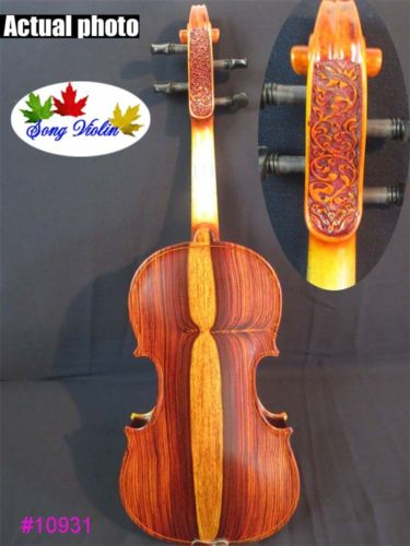 SONG Brand (Mexico cocobolo) rosewood back concert 4/4 violin,great sound #10931 image