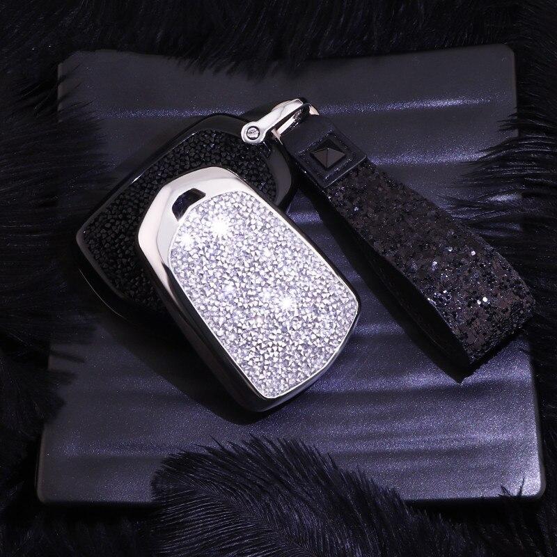 Image 3 - Искусственный хрустальный ключ чехол для ключей защитный чехол для Cadillac ATS CT6 CTS DTS XT5 Escalade ESV SRX STS XTS ELR-in Футляр для автомобильного ключа from Автомобили и мотоциклы