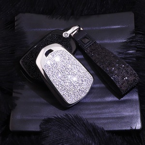 Image 3 - Artificial Crystal key case cover Key case protect shell holder for Cadillac ATS CT6 CTS DTS XT5 Escalade ESV SRX STS XTS ELR