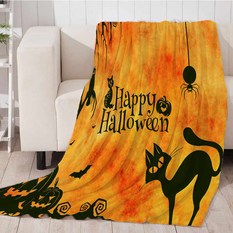 Soft Warm Thicking Blanket for Bed Super Soft Skull Bat Halloween Throw Blanket Art Beach Towel Throw Travel Machine Washable